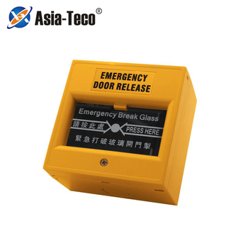 Przełącznik zwalniający drzwi awaryjne es przycisk alarmu przerwania szkła Alarm przeciwpożarowy przełącznik rozbicia szkła przełącznik zwalniający wyjście tanie i dobre opinie LUCKING DOOR CN (pochodzenie) 86x86x50mm 809G Przycisk wyjścia