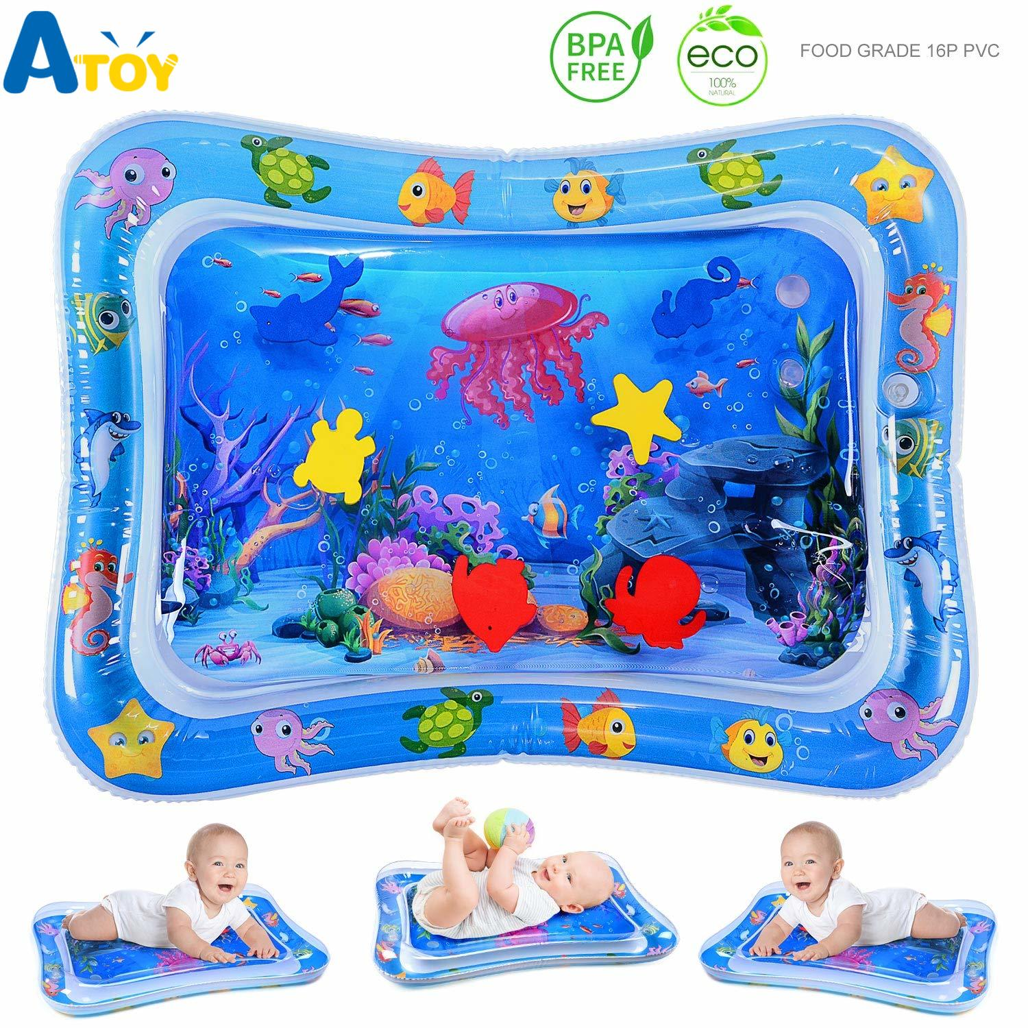 Tummy Time Baby Water Mat Infant Toy Inflatable Play Mat For 3 6 9 Months Newborn Boy Girl  Playmat   Baby Activity Gym