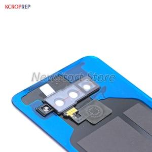 Image 5 - LG V50 arka cam pil kapağı ile parmak izi arka kapı kasa konut için LM V500EM LM V500XM LM V450PM kapak konut