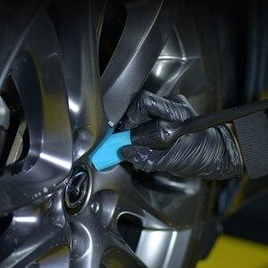 Image 5 - SPTA brosse en plastique à manche Long, 25cm, pour le nettoyage du moteur automobile, brosses en Polyester à poils de voiture, outils de nettoyage polyvalents