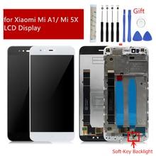 Dla Xiaomi Mi A1 wyświetlacz LCD z ekranem dotykowym Digitizer montaż z ramą dla Xiaomi Mi 5X wyświetlacz wymiana części zamienne do napraw