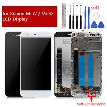 ЖК дисплей для Xiaomi Mi A1, дигитайзер сенсорного экрана в сборе с рамкой для Xiaomi Mi 5X, замена дисплея, запасные части