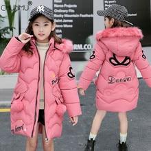 Kids Jacket Winter Coat Girl Outerwear Parka Hooded-Coat Faux-Fur Fashion Children's
