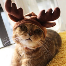 Hats Puppy-Caps Cats-Accessories Reindeer-Costume Dogs Funny Cute Grooming Antlers Gift