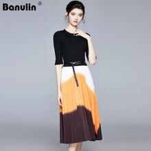 Элегантное Облегающее вязаное платье свитер с длинными рукавами