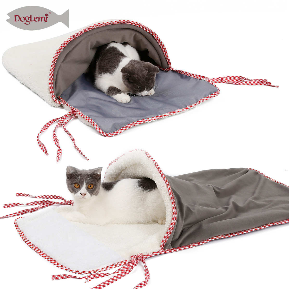 Foreign Trade New Products Cat Sleeping Bag Cat Tunnel For Playing House-Warming Winter Cage Cat House Cold Blanket Cat Nest