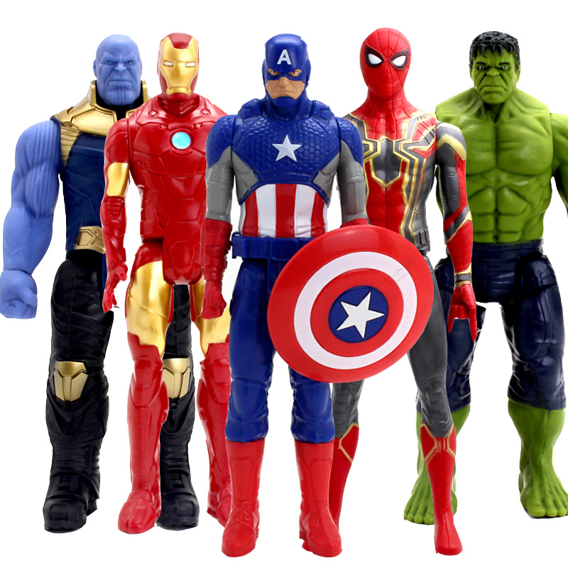"Spiderman ironman CAPTAIN AMERICA WOLVERINE HULK THOR 30cm 12 /""action figures"