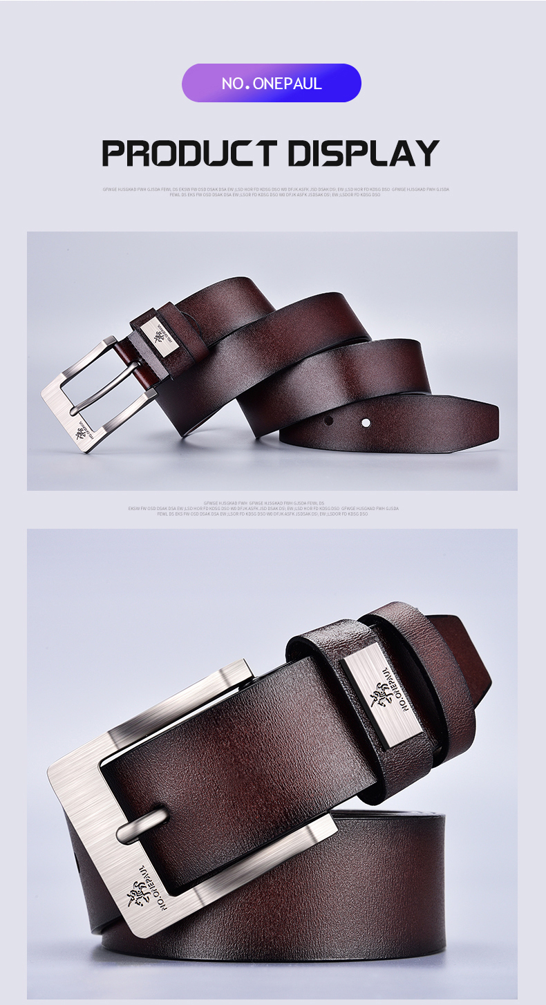 H80a5532e240747b8bf15db009e284054P - NO.ONEPAUL cow genuine leather luxury strap male belts for men new fashion classice vintage pin buckle men belt High Quality
