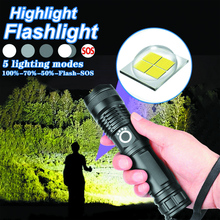 Фонарик аккумулятор 100000 люмен XHP50 5 режим светодиод USB аккумулятор 18650 26650 фонарик светодиод фонарик для пеших прогулок и кемпинга