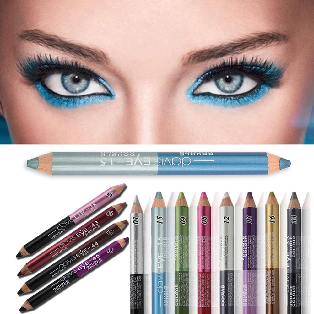 Double headed Durable Sweatproof Eyeliner Pencil Eye Shadow Pencil lasting Eye Liner Pencil Pigment Waterproof Eye Makeup Tools