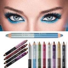 Crayon à paupières résistant à la transpiration, Double tête, crayon à ombre à paupières Durable, crayon à Pigment imperméable, outils de maquillage pour les yeux