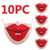 10 Pcs Activated Filter Korean Style Mask Fabric Face Mask Funny Kpop Cotton Mask Mouth Face Mask Anti PM2.5 Dust Mask