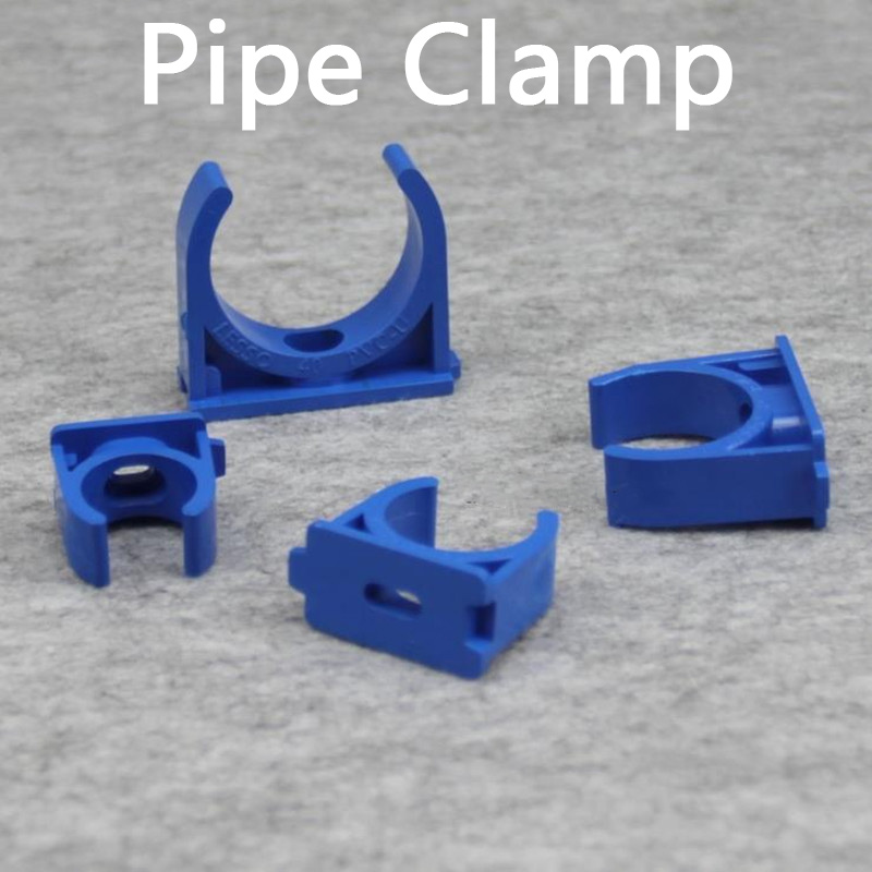 PVC Pipe Clamps Water Pipe Support PVC Pipe Connectors Garden Irrigation Tube Bracket Pipe Fittings 5 Pcs