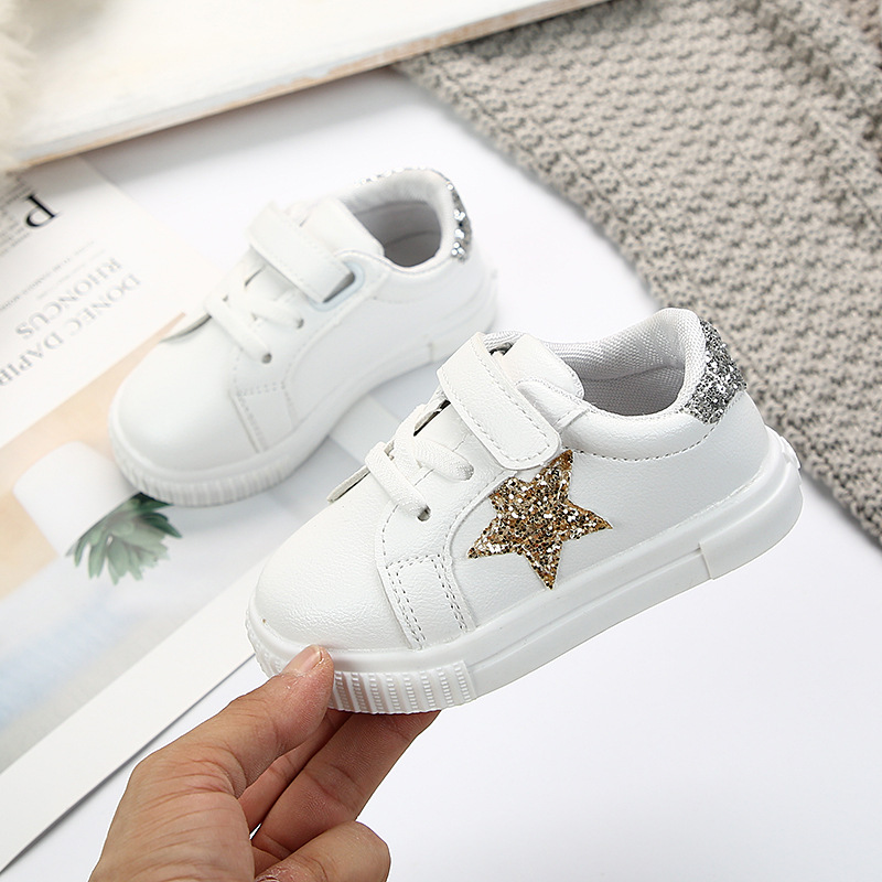 Kids Shoes For Baby Girls Crystal Star Breathable Anti-Slip Sole Children Mini Melissa For Baby Boys Toddler Sneakers Trainer