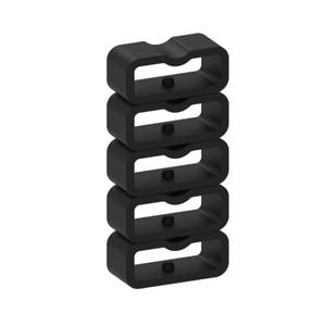 Image 4 - Ecsem 16mm רצועת Keeper לכבוד 4 להקת סיליקון לולאה שעון החלפה התמך חישוק גומי מקדמה בעל ביטחון