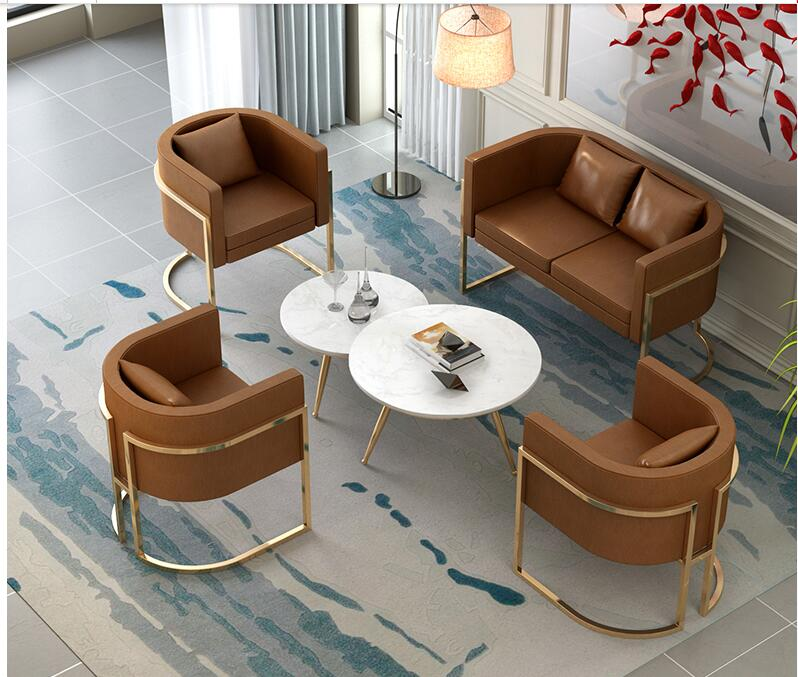 Office Clothing Store USES Small Sofa Contracted Modern Beauty Salon Nordic Ins Style Web Celebrity Tie Yi Leisure Sofa