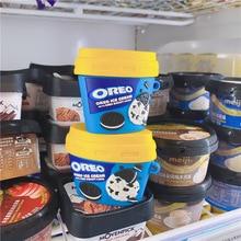 Oreo חלב גלידת כוס מקרה עבור Airpods 1 2 3 פרו אוזניות תיבת כיסוי 3D רך Bluetooth אלחוטי להגן מקרה עבור Airpod פרו
