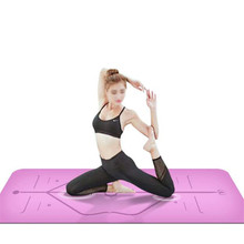 Non-slip TPE Yoga Mats for Fitness Body Building with Position LIne Pilates Gym Home Exercise Sport Yoga Pads Tasteless Yoga Mat цена 2017