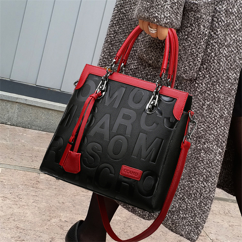 High Quality Women Pu Leather Handbags Shoulder Bags Fashion Designer Ladies Large Capacity Casual Ladies Tote Messenger Bags