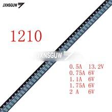 20PCS 1210 SMD PTC Self-recovery fuse PPTC MICROSMD050F-2 0.5A 13.2V/075F-2 0.75A 6V/110F-2 1.1A 6V/175F-2 1.75A 6V/200LR-2 2A6V