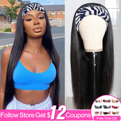 Headband Wig Human Hair Straight Wigs For Black Women Brazilian Straight Wigs Aircabin Wig Natural Hair Products Head Band Wig