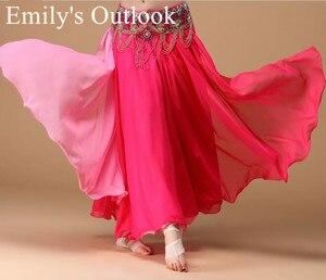 Image 2 - Bayan göbek dans eteği 2 renkler moda Bohemia çingene Maxi etek dansçı uygulama elbise egzotik giyim siyah kırmızı karışık