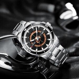 Image 5 - CURREN الفولاذ المقاوم للصدأ ساعة رجالي تصميم الأزياء كوارتز ساعة اليد مع تاريخ ساعة الذكور Reloj Hombre ساعة الرجال