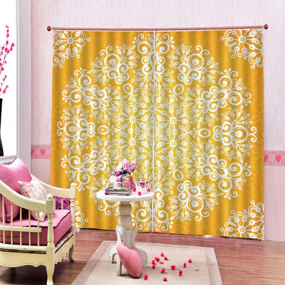 golden curtains 3D Window Curtain Dinosaur print Luxury Blackout For Living Room Decoration curtains