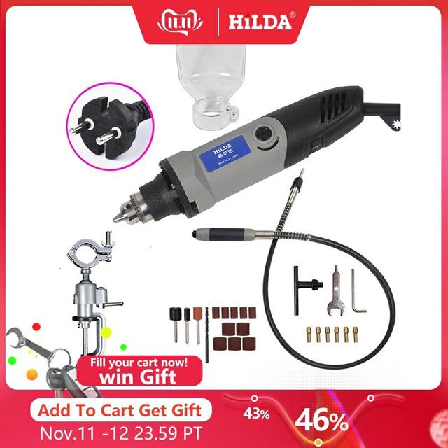 HILDA 400W dremel  style Electric Variable Speed for Dremel Rotary Tool Mini Drill fordremel tools grinding machine mini grinder