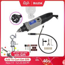 HILDA vitesse Variable électrique 400W style dremel, pour outil rotatif Dremel Mini perceuse outils dremel, mini broyeur de rectifieuse