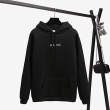 Autumn Winter Letter Harajuku Print Pullover Thick Loose Women Hoodies
