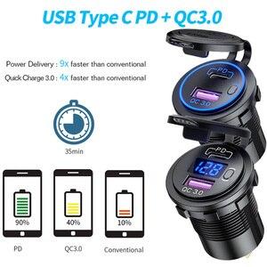 Image 5 - 12 24V USB araç şarj USB otomatik soket QC3.0 hızlı şarj PD portu Fit telefon için DVR kamera ipad su geçirmez 12V şarj aksesuarı
