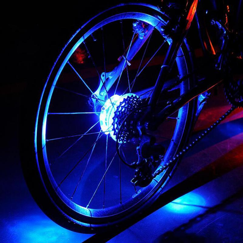 32 LED Colorful Bicycle Wheel Tire Spoke Signal Light For Bike Safety Lights SE