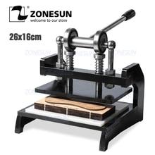 ZONESUN máquina de troquelado de cuero DM 2616N, troqueles para pendientes hechos a mano, máquina de prensado para punzonado, plantillas de acero