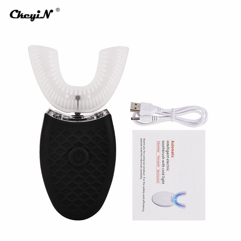 USB Charging Full Automatic Soft Electric Toothbrush Waterproof Sonic Teeth Brush U Shape Teeth Whitening Adult Children