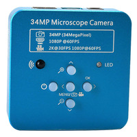 34mp 2 k 1080 p 60fps hdmi usb eletrônico industrial digital vídeo de solda microscópio câmera lupa para o telefone pcbtht reparando|Câmera de vídeo 360°| |  -