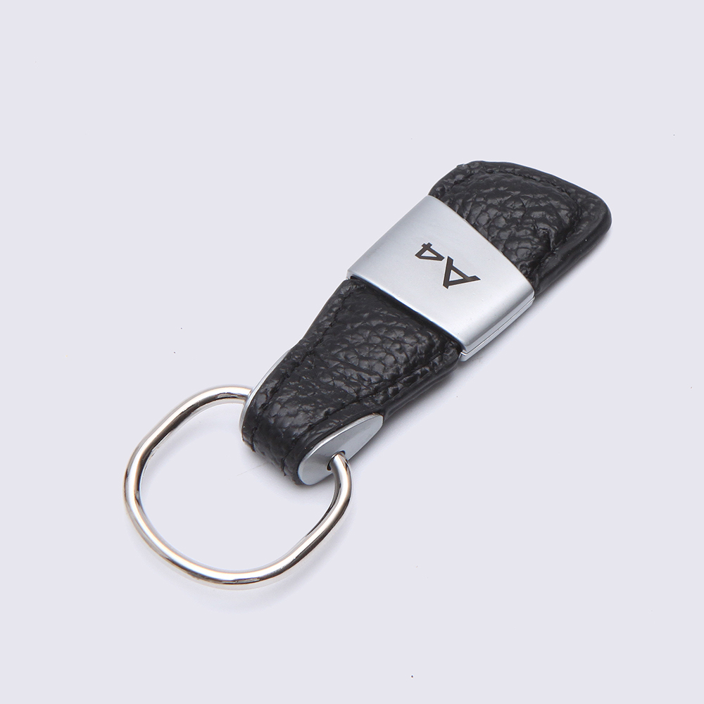 New Genuine Audi RS RS3 RS4 RS5 RS6 Leather Key Ring Keyring In Presentation Box