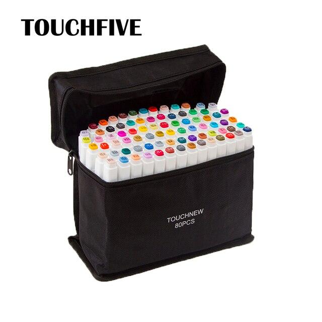 Touchfive маркеры для рисования эскизы спиртовые маркеры 30 40 60 80 168 цветов профессиональные художественные маркеры для анимации ручка для рисования манги