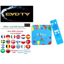2020 H96 Mini H6 EVDTV IPTV arabe Europe Android 9.0 TvBox USA Canada UK 4GB 128GB H96miniH6 décodeur(China)