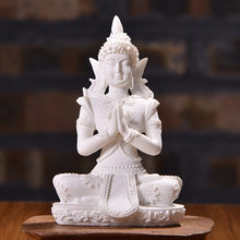Creative sandstone buddha statuette resin Craftwork Statuette home living room decoration buddhas figures desk accessories gifts