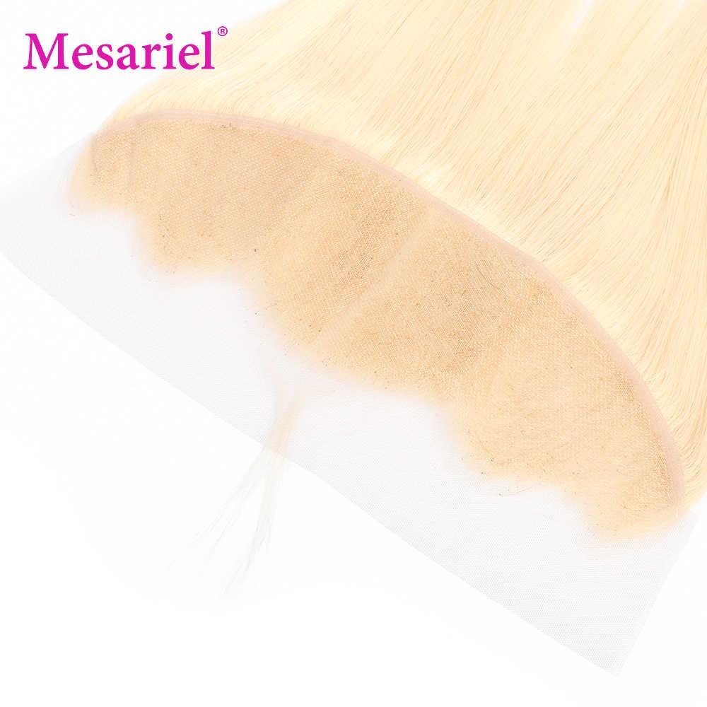 Pelo brasileño de la onda del cuerpo de Mesariel 13*4 cierre Frontal del cordón transparente 100% del pelo humano no Remy parte libre del cordón Frontal