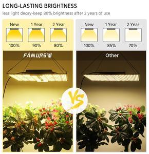 Image 5 - Светодиодная лампа полного спектра Famurs, квантовая панель 1000 Вт/2000 Вт/3000 Вт, лампа для освесветильник растений для внутреннего освещения, яркая палатка для выращивания