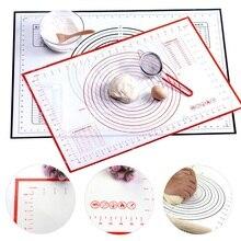 Многоразмерный антипригарный силиконовый коврик для выпечки со шкалой прокатки теста коврик для замеса коврик для кухни для приготовления теста лист для духовки