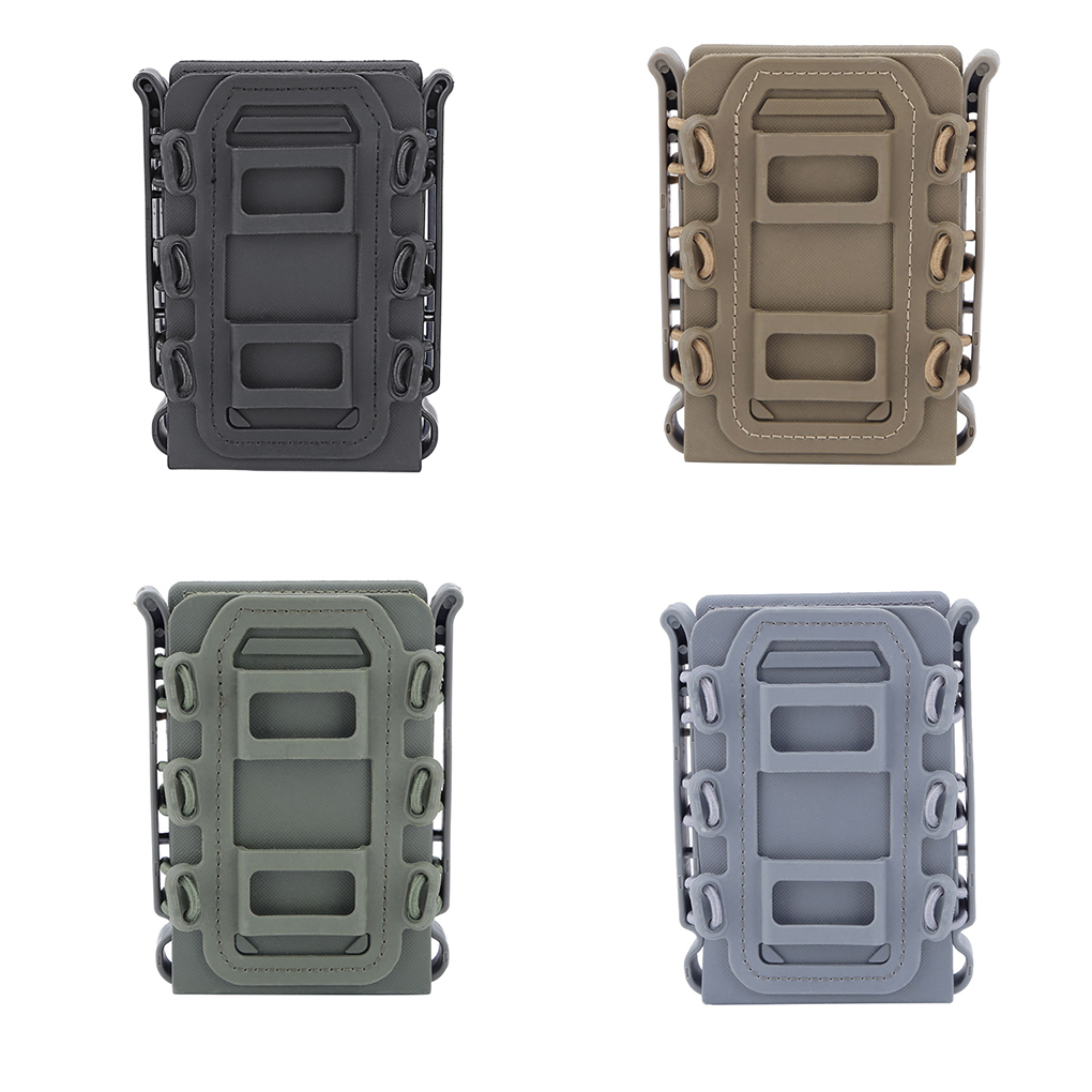 Outdoor 5.56 7.62 Fast Magazine Pouch Quick Release <font><b>Tactical</b></font> Mag Nylon Holster Case Box Replacement for <font><b>Molle</b></font> System Belt image