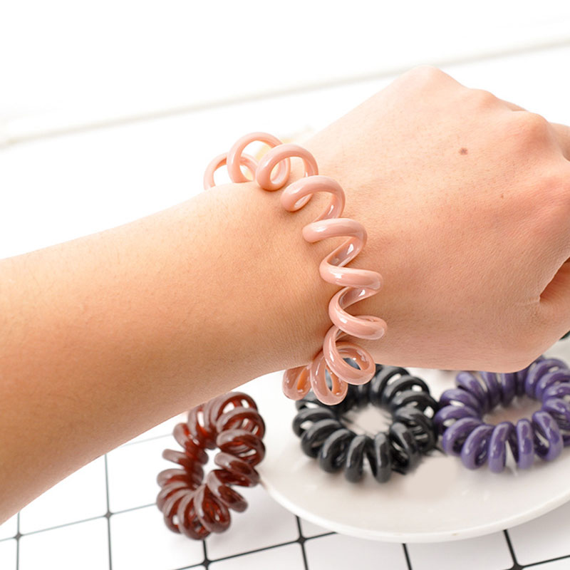 1PC Oversized Telephone Wire Hair Ring Elastic Hair Bands For Girls Women Donut Ponytail Rubber Bands Scrunchie Hair Accessories