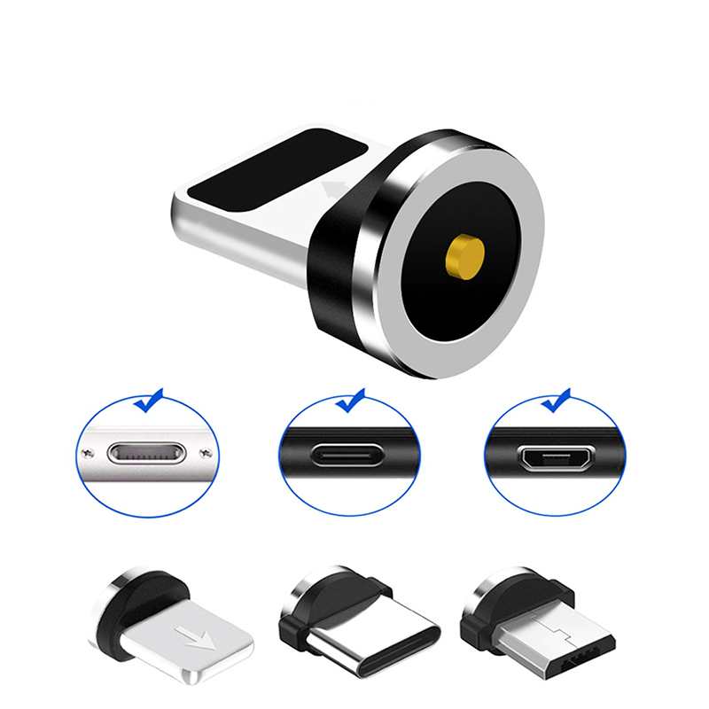 Universal Round Magnetic Cable Plug Micro USB / Type C / 8 Pin Adapter(Only Magnetic Plug)Magnet Cabo Connector Dust Plugs