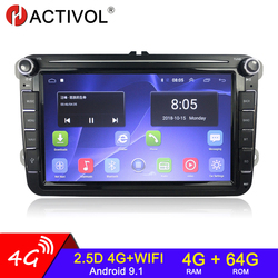 Автомобильная Мультимедийная система, стерео-система на Android, 4 Гб ОЗУ, 64 Гб ПЗУ, для Volkswagen, Skoda Octavia, golf 5, 6, touran, passat B6, polo, Jetta, типоразмер 2 Din