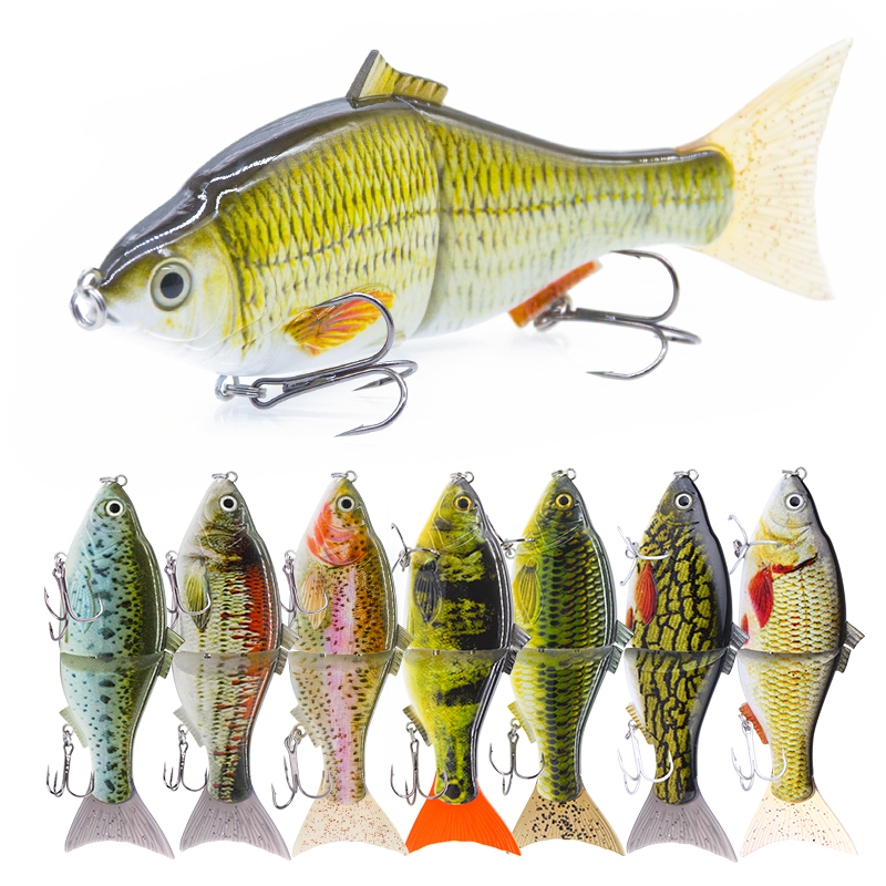 Agoie Fishing Lures 2 Segmented Slider 6in 51g Performance Swimbait Bass Fishing Tackle Floating Glider Metal Jointed Shad Bait|hard bait|fishing lure|slow sinking - title=