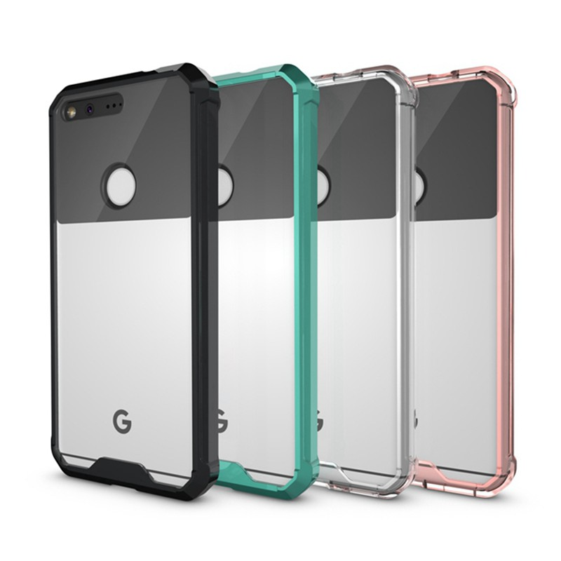 Slim Hybrid Cover Air Cushion Technology Case With Clear Back Panel Shockproof Bag Shell For Google Pixel 5.0 / Pixel XL 5.5 image