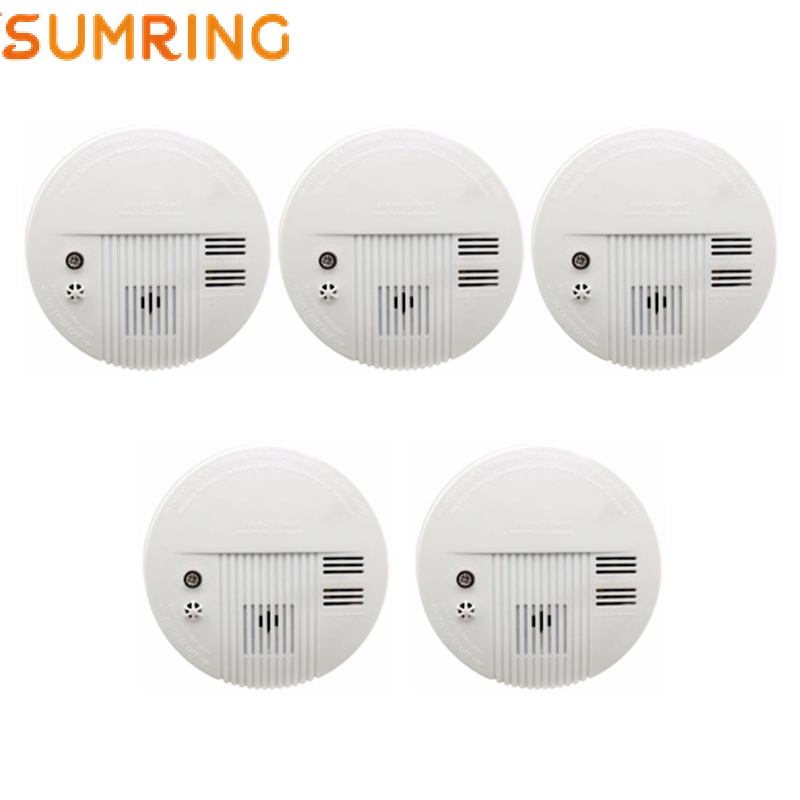 Fire Alarm 9V Battery Standalone Independent Photoelectric Smoke Detector
